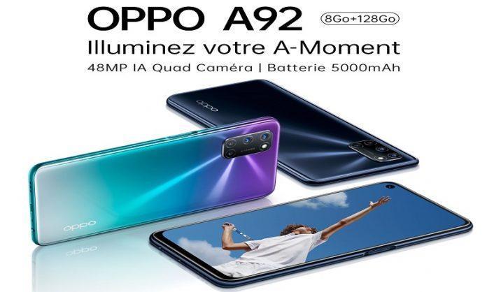 OPPO A92 : le smartphone est désormais disponible au Maroc