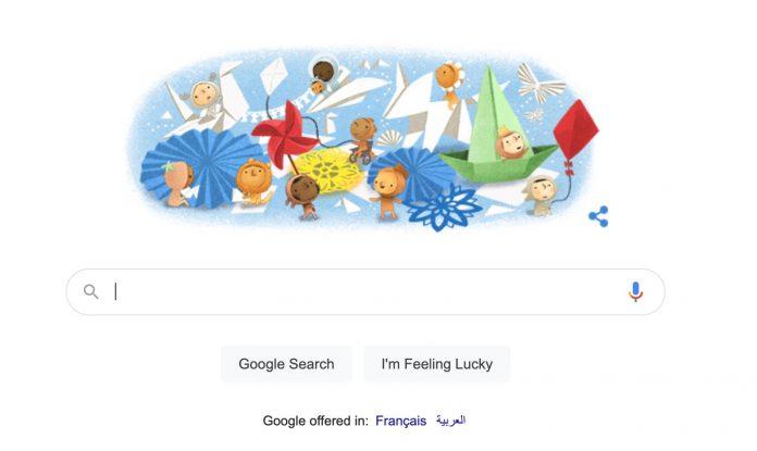 Doodle : Google célèbre la Journée mondiale de l'enfance
