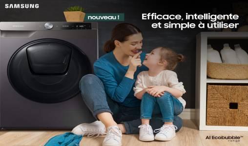 Samsung propose des lave-linges révolutionnaires assistés par l'Intelligence Artificielle